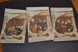 Carte Postale 1914/18  Patriotique Série De 3 Cartes Groupe D'alliées - Patriottisch
