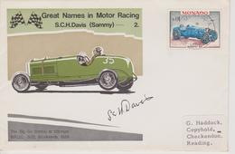MONACO : S.C.H DAVIS Vainqueur Des 24 Heures Du MANS 1927 ( Avec Autographe ) - Automobilismo