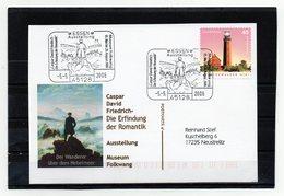 BRD, 2006, Karte (echt Gelaufen) Mit Michel 2478 Und Sonderstempel, Caspar David Friedrich - Covers