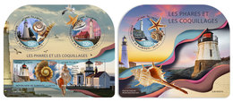 DJIBOUTI 2019 - Lighthouses And Shells, M/S + S/S. Official Issue - Schelpen
