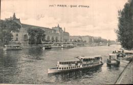 75 PARIS QUAI D'ORSAY CARTE PRECURSEUR PAS CIRCULEE - La Seine Et Ses Bords