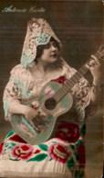ANTONIA COSTA GUITARISTE ET CHANTEUSE ANDALOUSE ESPAGNE CIRCULEE 1915 - Muziek En Musicus