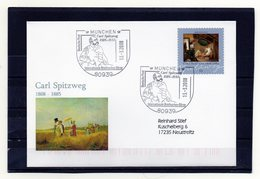 BRD, 2008, Brief (echt Gelaufen) Mit Michel 2648 Und Sonderstempel, Carl Spitzweg - Brieven