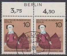 Berlin  1968 MiNr.322 Paar O Gest.Wohlfahrt: Puppen ( B 465 ) Günstige Versandkosten - Gebraucht