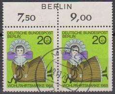 Berlin  1968 MiNr.323 Paar O Gest.Wohlfahrt: Puppen ( B 471 ) Günstige Versandkosten - Gebraucht
