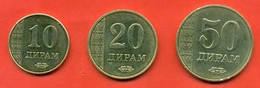 Tajikistan 2011. Tree Coins - 10, 20 & 50 Diram. XF. - Tajikistan
