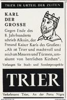Original-Werbung/ Anzeige 1962 - TRIER / KARL DER GROSSE - Ca. 45 X 65 Mm - Werbung