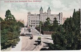 AUSTRALIE 1925 CARTE POSTALE DE MELBOURNE GRAND HOTEL WINDSOR - Melbourne