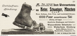 Original-Werbung/Inserat/ Anzeige 1911 - WINTERSPORT/SKI SCHWAIGER MÜNCHEN - Ca. 140 X 60 Mm - Advertising