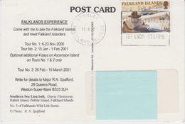 Falkland Islands 2000 Postcard Ca Stanley 13.6.00 (42598) - Falklandeilanden