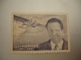 ErInnophilie Aviation Jean Mermoz    Militaria  Vignette Timbre - Erinnophilie