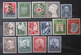 Bund Jahrgang 1953 *  Postfrisch Mit Falzrest , Komplett (Mi 162 - 176) ,  Einwandfrei - Unused Stamps
