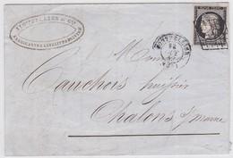 LSC - N°3  OBL. GRILLE + MONTPELLIER 13 0CT.49 - Marcophilie (Lettres)