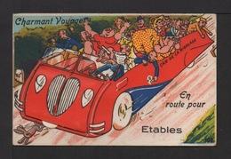 """CPSM . Charmant Voyage En Route Pour """"ÉTABLES"""". 10 Vues . Signature JOB . - Mechanical"""