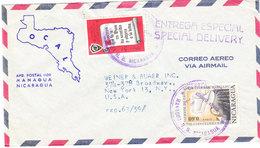 NICARAGUA AIRMAIL COVER 1963 - Nicaragua