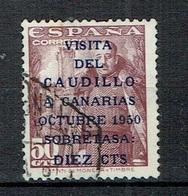 SPAIN 1950 Caudillo Overprinted 10 Cent On 50 Used - 1931-Oggi: 2. Rep. - ... Juan Carlos I