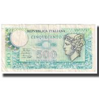 Billet, Italie, 500 Lire, 1976, 1976-12-20, KM:95, TTB - [ 2] 1946-… : République