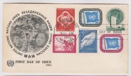 NATIONS UNIES (New-York) 1951:  Les 3 Tous Premiers  FDC,  Bonne Cote - New York -  VN Hauptquartier