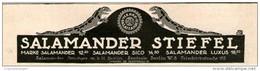 Original-Werbung/Inserat/ Anzeige 1913 - SALAMANDER STIEFEL - Ca. 180 X 50 Mm - Pubblicitari