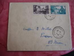 Lettre Pour Poissons 52  Timbre 1 F Plus 50 C Et 40 Et 60 C Pour Nos Soldats - Postmark Collection (Covers)