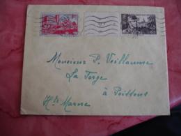 Lettre Pour Poissons 52  Timbre T 40 Et 60 C Pour Nos Soldats Et 90 C Pau - Marcophilie (Lettres)