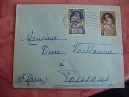 Lettre Pour Poissons 52  2 Timbre Pour La Natalite 70 Plus 80 Et 90 Plus 60 C - Marcophilie (Lettres)