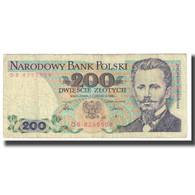 Billet, Pologne, 200 Zlotych, 1986, 1986-06-01, KM:144c, B+ - Pologne