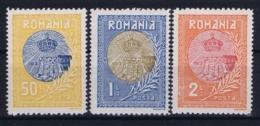 Romenia : Mi 234 - 236 MH/* Flz/ Charniere 1913 - 1881-1918: Charles I