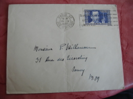 Lettre Timbre  Pasteur 1 F 50 Plus  0.5 Seul Sur Lettre - Marcophilie (Lettres)