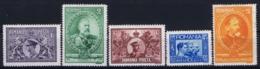 Romenia : Mi 397 - 401 MNH + MH/* Flz/ Charniere 1913 - 1918-1948 Ferdinand, Carol II. & Mihai I.