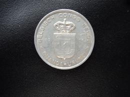 CONGO BELGE - RUANDA URUNDI : 1 FRANC   1957    KM 4     SUP - Belgisch-Kongo & Ruanda-Urundi