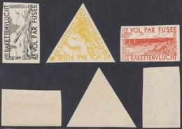 Belgique 1935 - Erinophilie COB E7/9 Xx Vol Par Fusée (DD) DC 2994 - Commemorative Labels
