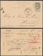 "Belgique 1899 - EP Obl. Ambulant "" Charleroi-Braine-Le-Comte ""  (DD)DC 3012 - Stamped Stationery"