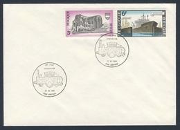 Belgie Belgique Belgium 1989 Cover Brief Enveloppe - 150 Jaar Spoorwegen, Kortrijk / Chemin De Fer / Eisenbahn - Treinen
