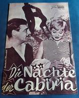 """Giuletta Masina, Francois Perier, Franca Marzi > """"Die Nächte Der Cabiria"""" > Altes NFP-Filmprogramm '1958 (fp243) - Zeitschriften"""