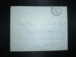 LETTRE OBL. Tiretée 3-2 1966 BEAULIEU-SUR-SONNETTE CHARENTE (16) - Marcophilie (Lettres)