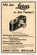 Original-Werbung/Inserat/ Anzeige 1932 - LEITZ LEICA - Ca. 70 X 100 Mm - Pubblicitari