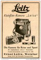 Original-Werbung/Inserat/ Anzeige 1928 - LEITZ LEICA KAMERA - Ca. 70 X 100 Mm - Pubblicitari