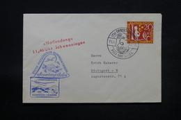 ALLEMAGNE - Enveloppe Par Planeur De Triberg En 1960 , Affranchissement Plaisant , Vignette - L 28432 - Briefe U. Dokumente