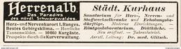 Original-Werbung/ Anzeige 1913 - HERRENALB - Ca. 90 X 25 Mm - Pubblicitari