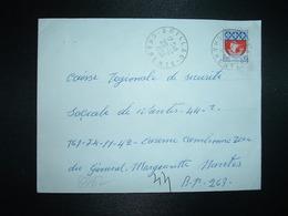 LETTRE TP BLASON PARIS 0,30 OBL.20-12 1966 BRILLAC CHARENTE (16) - Marcophilie (Lettres)