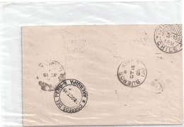 Carte Paraguay -tampons 1895 PEROU-BUENOS AIRES-CHILI - Paraguay