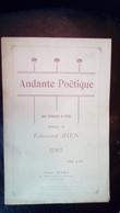 Partition Andante Poétique Pour Violoncelle Ou Violon Édouard Bien - Scores & Partitions