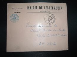 LETTRE MAIRIE OBL.13-8 1970 16 CELLEFROUIN CHARENTE - Marcophilie (Lettres)