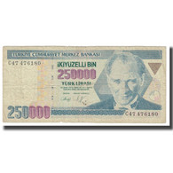 Billet, Turquie, 250,000 Lira, 1970, 1970-10-14, KM:211, B - Turquie