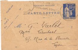 Carte Lettre Type Paix N°365 CL1 - Kaartbrieven