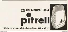 Original-Werbung/ Anzeige 1959 - PITRELL RASIERWASSER - Ca. 180 X 90 Mm - Pubblicitari