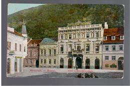 ROMANIA Kronstadt - Brasso Hotel Continental- Szalloda 1909 OLD POSTCARD - Romania