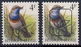 Belgie Belgique Belgium 1989 Mi 2373 YT 2321 + Precancel ** Luscinia Svecica Cyanecula : Bluethroat/ Gorge-bleue Commune - Ongebruikt