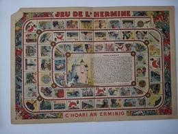JEU DE L'HERMINE - C'hoari An Erminig  éd. Ololé - Urz Goanag Breiz - Landerneau ( Vers 1941-1944 ) Carton 31 X 44 Cm - Jeux De Société